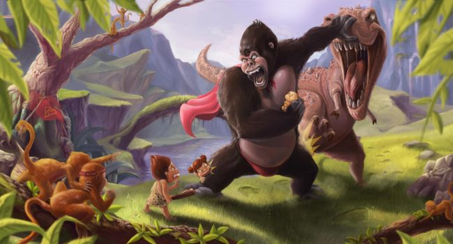 Super Kong's fighting... by Victorior