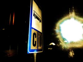 Bus sign and a Supernova 3 by il-Paciato