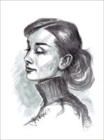 Audrey Hepburn by Lui-freelancer