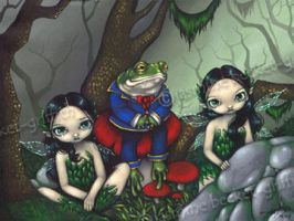 The Handsome Frog by jasminetoad