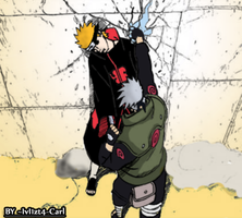 Kakashi vs pein by IvI1zt4-Carl