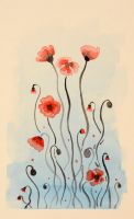 Red Poppies by Caitiekabob