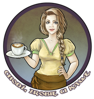 Commission: Coffee girl by Fenchan