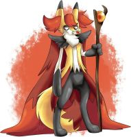 Alternate Delphox by BritishStarr