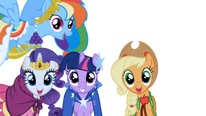 Mane 4 out of 6 at the Gala by WakkaEx