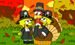 Thanksgiving with Tom Turkey by MarioSimpson1