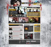 MUSICURE rock music portal by steweq