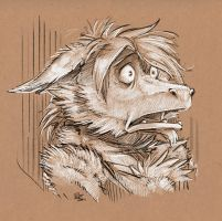 Kyu two-toned sketch commish by Rhandi-Mask