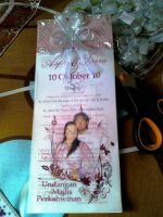the finished wedding invitation:2 by dindaseh