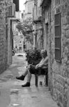 Old man and the street by DarthNigror