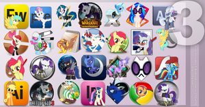 Pony Icon Set 3 by Elalition