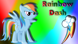 Rainbow Dash Wallpaper by schocky
