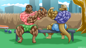 Comparing To Each Otter. by Atariboy2600
