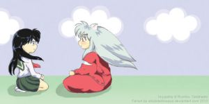 Inuyasha and Kagome by AliciaDelBosque