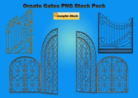 Ornate Gates PNG Stock Pack by Roys-Art