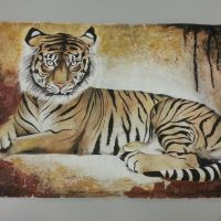Golden Tiger by OrhideArt