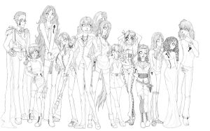 Prizon group: Redone, Lineart. by Miha-Hime
