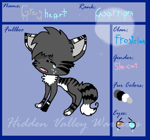 Ref Sheet For GreyHeart by spottedtail223