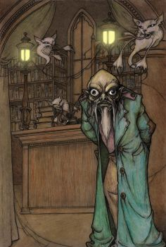 Theophrastus Frog and Dustcats-colour by CopperAge