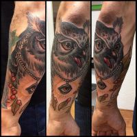 Tattoo Owl by Xenija88