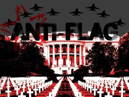 Anti-Flag white house by LambChop4Prez