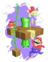 famicom worlds - super mario bros. by FutureDami