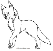 Wolf Lineart by Unholy-Spirits