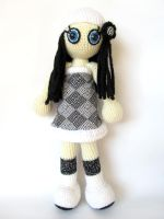 Black and white doll 1 by KooKooCraft