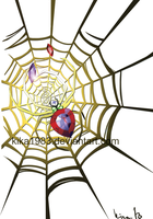 WEB SPIDER commission for an I Phone app by kika1983