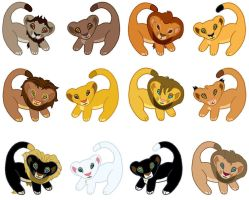 Lion Cubbies the Other Lions 2 by angeltiger777