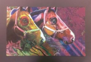 Horses Pastel Piece by Livvy97
