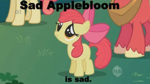 Sad Applebloom by harpseal16