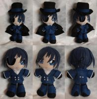 Mini Plushie, Ciel Phantomhive, Blue Ensemble by LadyoftheSeireitei