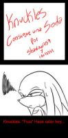 Knuckles consigue una soda parte 1 by idolnya