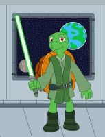 Franklin the Green Jedi Turtle by MCsaurus