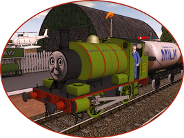 Railway Series Portraits - Percy by wildnorwester