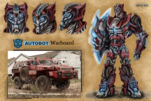 TF OC- new autobot Warboard by MaryDec