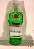 Bottle of gin still life by Mau-Ve