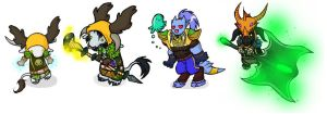 Warcraft Chibis Set4 by feedapollyon