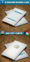 UI Designer Business Card by CaCaDoo