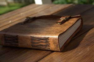 Leather Book by RautaLeiska