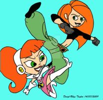 Kim Possible and Atomic Betty by DarylT