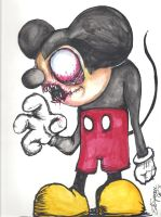 Mickey Mouse by Papierschnitt