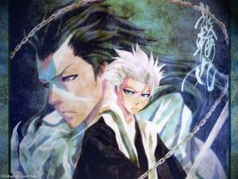 Hitsugaya and Hyorinmaru by AkaneOtaku