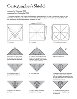 Origami Cartographer's Shield Diagram page 1 by Houndread
