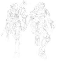Spartan Sketches by CrashLegacy