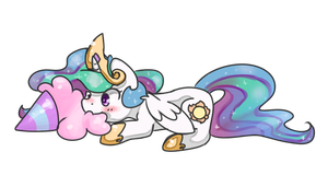 Celestia and Cotton Candy by chocolateponi