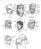 Spider People Sketch Sheet by mr-author