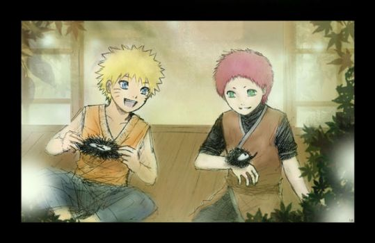 Fox Leaves - Gaara and Naruto by Lizeth