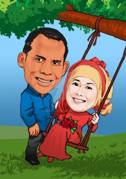 Caricature couple by DunkZ